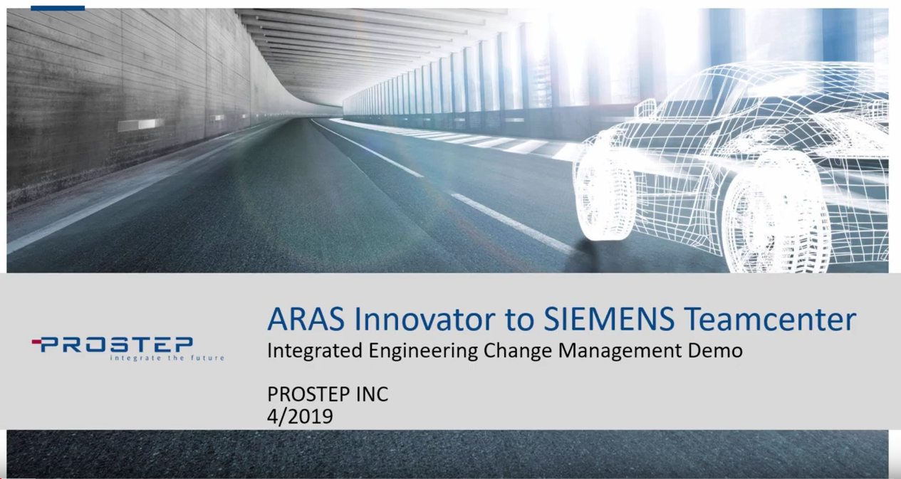 Integrated Change Management ARAS Innovator PLM and SIEMENS Teamcenter PLM