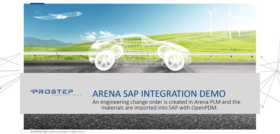Engineering Change Order with ARENA PLM and SAP Integration Demo
